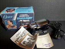 VINTAGE Oster Imperial Massager 2-Speed 138-11  Handheld Body Massager Vibrator