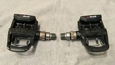 Exustar EPS-R Track Clipless Pedals- Toe Strap Attachment- Uses Look Keo Cleat