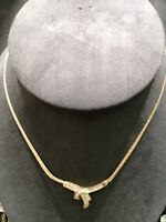 (N40708) 14K Gold Necklace w/ Diamonds
