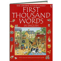 Usborne First Thousand Words in English IR (Hardcover) FREE shipping $35