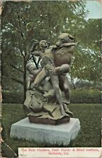 "Bear Hunt Statue Douglas Tilden ""Deaf Dumb & Blind Institute"" Berkeley Postcard"