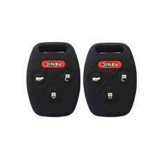 A Pair Black 3+1 Buttons Silicone Key Fob Skin Key Covers Jacket fit for Honda