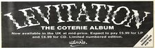 1/2/92Pgn36 Advert: Levitation the Coterie Album Now Available In Uk 3x11