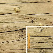 BEIGE Fat Quarter/Meter | Linen Blend Fabric Fat Quarter Novelty Wood 145cm wide