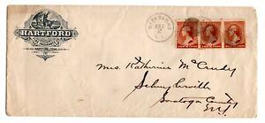USA circa 1882 HARTFORD advertising cover