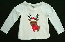 Adventure Wear by Copper Key Toddler Girls 3T Winter White Fuzzy Christmas Top