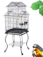 Large Pagoda Roof Top Lovebird Cockatiels Finch Parakeets Bird Cage W/Stand 347