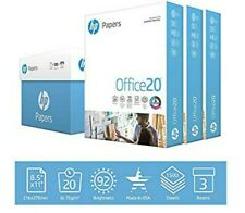 HP Printer Paper Office20 - 8.5x11 Letter - 92 Bright - 1,500 Sheets/3 Ream Case