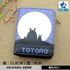 Anime My Neighbor Totoro Short Zipper Wallet/Purse for Collection or Cosplay