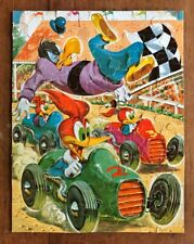 Vintage Walter Lantz WOODY WOODPECKER auto racing Jigsaw Puzzle (Whitman)