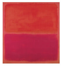 No. 3, 1967 by Mark Rothko Art Print Abstract Poster Red Orange 11x14