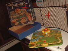 """VINTAGE, TIN """"FUTURMATIC AIRPORT"""" W/REMOTE CONTROLLED AIRPLANE"""" WORKING W/BOX!!"""