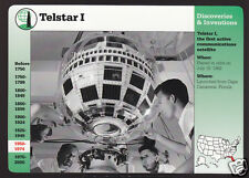 TELSTAR I First Satellite TV & Phone 1962 Photo GROLIER STORY OF AMERICA CARD