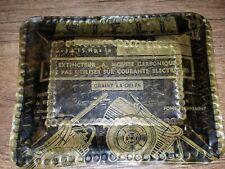 New listing Ww1 Trench Art Brass Tray Fire Extinguisher Brass French S.I.C.L.I