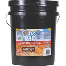 One TIME 01010 Wood Preservative Stain & Sealer,Chestnut, 5 Gallon Size