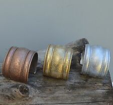 Metal Adjustable Cuff Fashion Bracelet, Available In Silver, Brass, & Copper