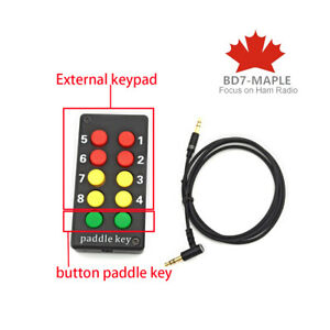 External keypad with button paddle key For ICOM 705 IC-705 SDR HF transceiver