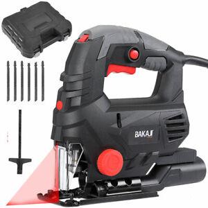 Seghetto Elettrico Alternativo 800W Velocita Regolabile Laser Valigetta e 6 Lame