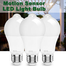 LED Motion Sensor Light Bulbs 90W 120W 150W E26 A19 Indoor Outdoor Dusk to Dawn