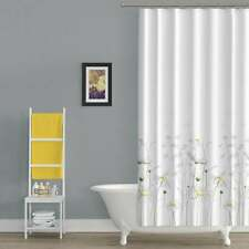 "Extra Long Shower Curtain Daisy High Quality Polyester Fabric 47""x78"" -120x200cm"