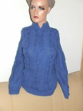 superbe  pull chaud tricoté main ANNY BLATT mohair  taille 36   comme neuf
