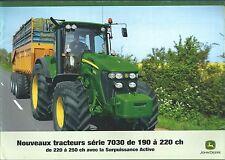 Farm Tractor Brochure - John Deere - 7730 7830 7320 - FRENCH - c2008 (F4841)