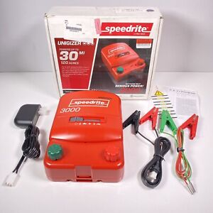 Speedrite 3000 Unigizer 30 Mile Fence Charger Powers 120 Acres New Open Box