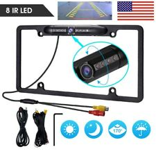 12V Car Rear View Backup Camera 8 IR Night Vision License Plate Frame CMOS US