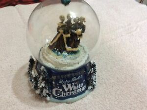 Holiday Creations Irving Berlin's White Christmas Snow Globe/Music Box