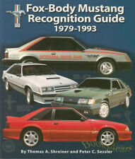 MUSTANG BOOK RECOGNITION GUIDE FOX BODY FORD SVT GT 5.0 LX COBRA R SVO 1979-1993