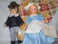 "Restrung-Pilgrim Boy 8"" & Pilgrim Girl #100349 Madame Alexander-1994 lot 2"