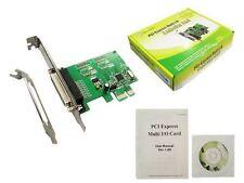 Parallel PCIe Printer Port Adapter IO Card Low Profile DB25 Win7-Win10 x64 PCI e