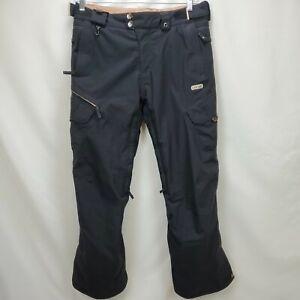 686 Womens Smarty Waterproof Snowboard Ski Pants Size Medium Black Insulated Zip