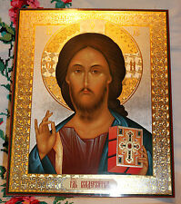 "ORTHODOX Prayer Icon (Hardboard) - Jesus Christ The Lord Almighty - 13""x16"""