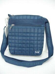 NEW LUG SKIPPER QUILTED BLUE CROSSBODY SHOULDER BAG POUCH