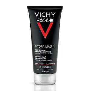 Vichy Homme Hydra Mag C Body & Hair Shower Gel 200ml GENUINE & NEW