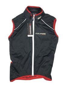 New Louis Garneau Speedzone Course Limited Edition Black Red Vest Men's Size XL