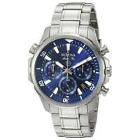 Bulova Men's Quartz Marine Star Chronograph 6 Hand Calendar 43mm Watch 96B256