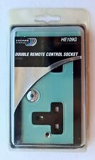 HOME EASY GLASS DOUBLE REMOTE CONTROL SOCKET HE109G 2 GANG BYRON 3000W NEW