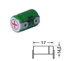 BATTERIA RICARICABILE NI-MH 1/3AA 1,2V 300mAh 14,3x17,5mm A SALDARE BC2150-00
