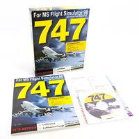 747 for PC CD-ROM in Big Box, 1999, Flight Simulator 2000, VGC, CIB