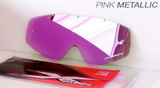 EKS Brand PINK MIRROR Single Pane GOX Replacement Goggle Lens 067-40255
