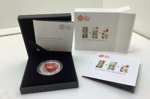 Royal Mint Silver Proof £5 Coin. Remembrance Day 2018. Included COA