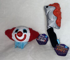 Bark Box Squeaky The Clown Squeakopath Knife Plush Rip And Reveal Ball Dog Toy