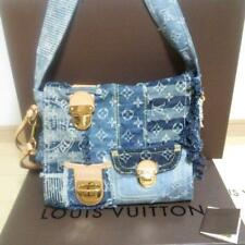 Louis Vuitton LV Patchwork Posty Denim Shoulder Hand Bag Rare Used Mint Japan