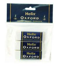 Helix Oxford in plastica GOMME PER CANCELLARE GRANDE MANICA IN GOMMA A MATITA SCUOLA cancelleria gomma