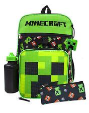 Minecraft Creeper TNT 5 pezzi Zaino Set Lunch Box Pencil Case bottiglia