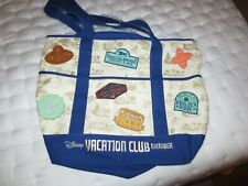 Embroidered Disney Vacation Club Patches Large Canvas Tote Bag Dvc Member Nwt
