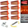 1/2/8 2KW Spray Baking Booth Infrared Red Paint Curing Light Heating Lamp Heater