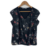 Katies Womens Blouse Size Small Floral Multicoloured Short Sleeve